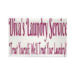 Diva's Laundry Service Logo 4 Magnets
