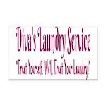 Diva's Laundry Service Logo 4 Rectangle Car Magnet