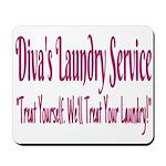Diva's Laundry Service Logo 4 Mousepad