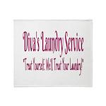 Diva's Laundry Service Logo 4 Throw Blanket