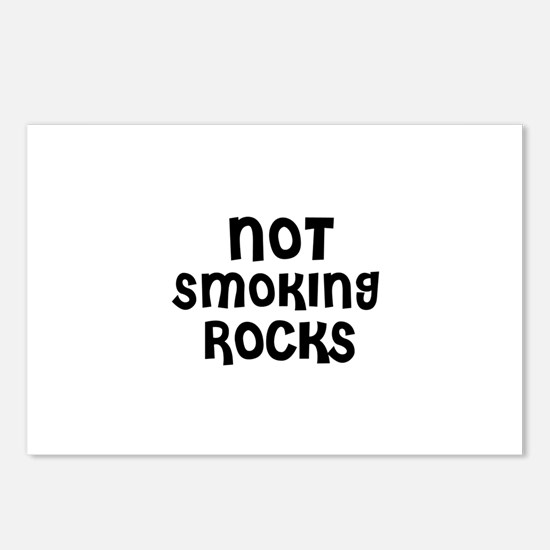 NOT SMOKING ROCKS Postcards (Package of 8)