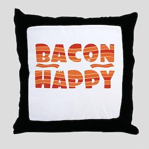 """It's bacon day! """"Bacon Make Throw Pillow"""