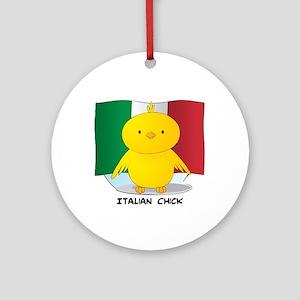 Italian Chick Round Ornament