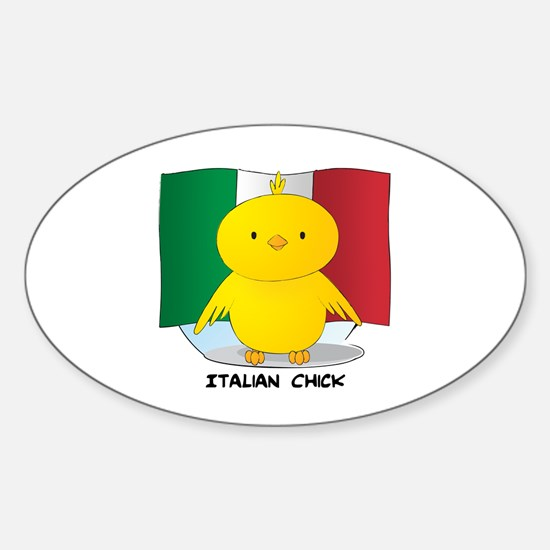 Italian Chick Oval Decal
