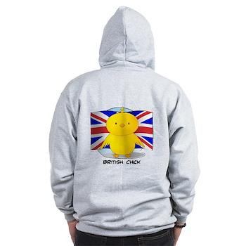 British Chick Zip Hoodie