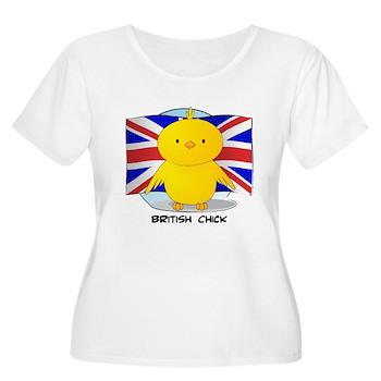 British Chick Women's Plus Size Scoop Neck T-Shirt