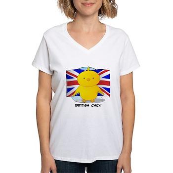 British Chick Women's V-Neck T-Shirt