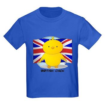 British Chick Kids Dark T-Shirt
