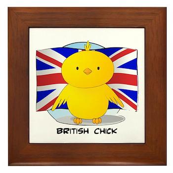 British Chick Framed Tile