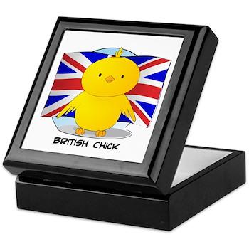 British Chick Keepsake Box
