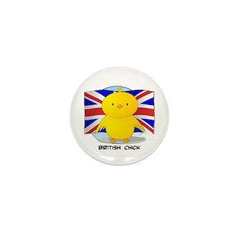 British Chick Mini Button