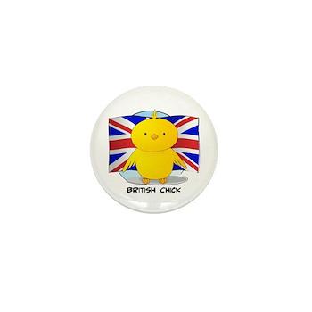 British Chick Mini Button (10 pack)