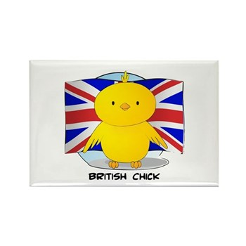 British Chick Rectangle Magnet (100 pack)