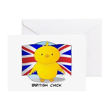 British Chick Greeting Card