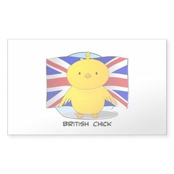 British Chick Rectangle Sticker