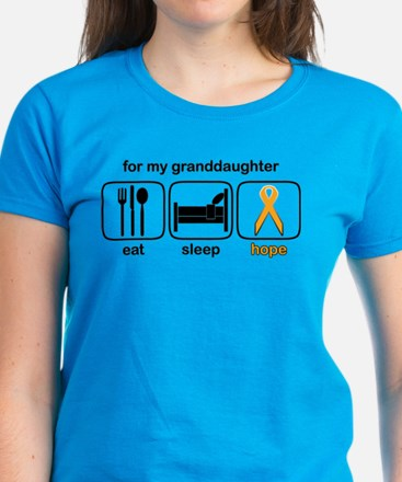 Granddaughter ESHope Leukemia Women's Dark T-Shirt