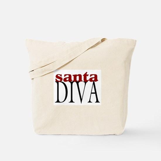 Santa Diva Tote Bag