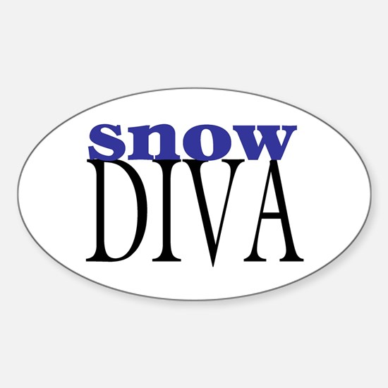 Snow Diva Oval Decal