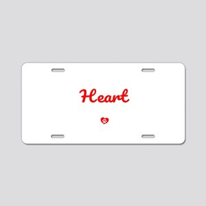 The Road To My Heart Is Pav Aluminum License Plate