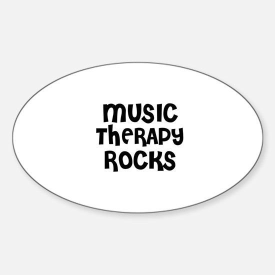 MUSIC THERAPY ROCKS Oval Decal