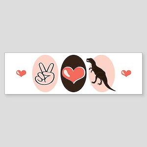 Peace Love Paleontology Bumper Sticker