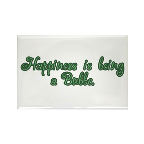 Happiness is being a Bubbe Rectangle Magnet