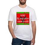 Swine Flu H1N1 Fitted T-Shirt
