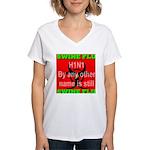 Swine Flu H1N1 Women's V-Neck T-Shirt