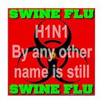 Swine Flu H1N1 Tile Coaster