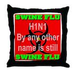Swine Flu H1N1 Throw Pillow