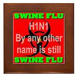 Swine Flu H1N1 Framed Tile
