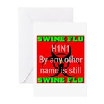 Swine Flu H1N1 Greeting Cards (Pk of 10)