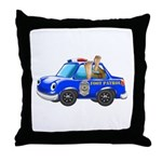 Foot Patrol Car Throw Pillow