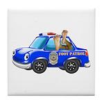 Foot Patrol Car Tile Coaster
