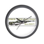 Free Men own rifles Wall Clock