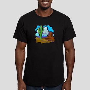 CACTUS_0922 Men's Fitted T-Shirt (dark)