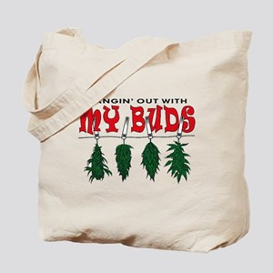 Hangin Out with My Buds Tote Bag