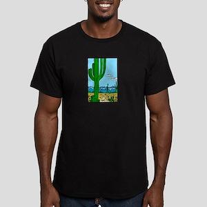 CACTUS_0925 Men's Fitted T-Shirt (dark)