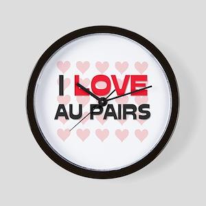 I LOVE AU PAIRS Wall Clock