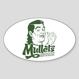 Mullets Oval Sticker