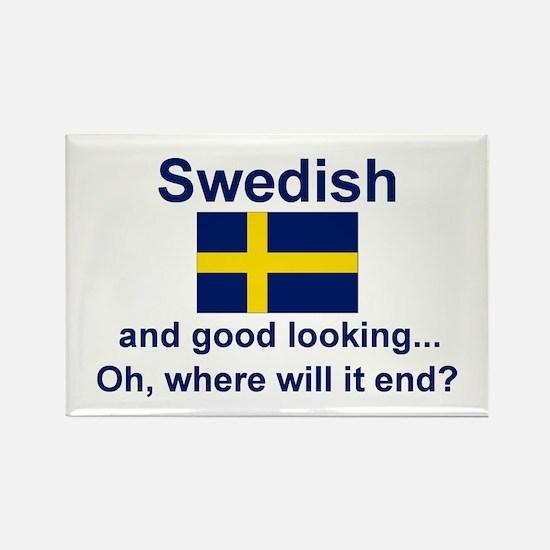 Good Looking Swedish Magnet (3x2)