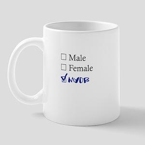 Male/Female/MYOB Mug