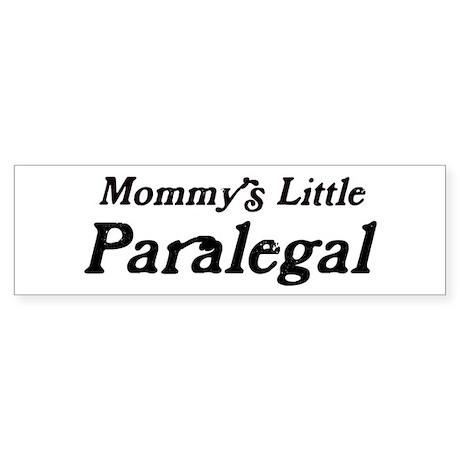 Mommys Little Paralegal Bumper Sticker