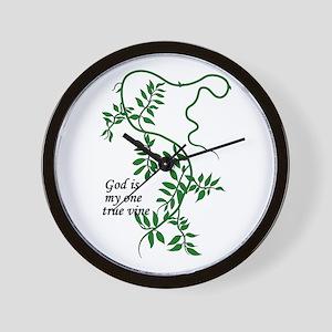 God is my one true vine Wall Clock