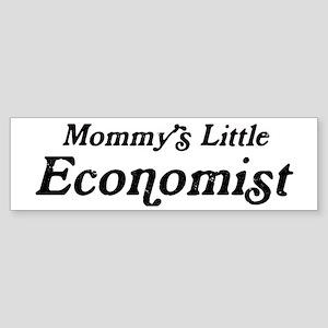 Mommys Little Economist Bumper Sticker