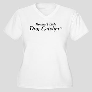 Mommys Little Dog Catcher Women's Plus Size V-Neck