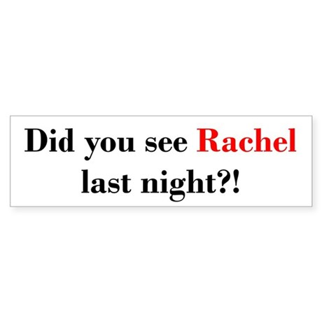 Rachel Fan Sticker (Bumper)