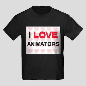I LOVE ANIMATORS Kids Dark T-Shirt