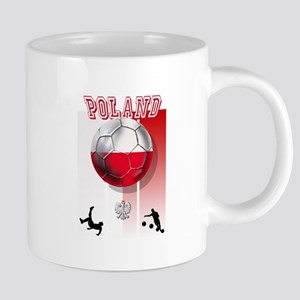 Poland Football Soccer 20 oz Ceramic Mega Mug