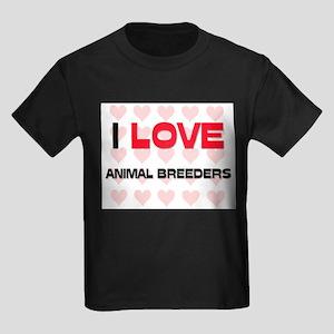 I LOVE ANIMAL BREEDERS Kids Dark T-Shirt